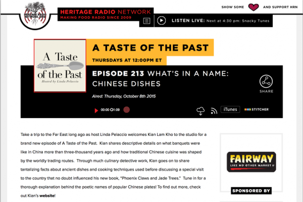 Read more about the article Talking Chinese Cooking History with Linda Cook Palaccio