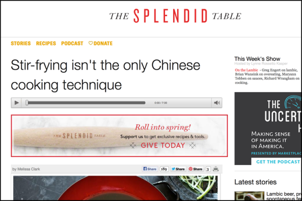 Read more about the article A Chat on The Splendid Table